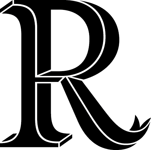 R Dr Odd Lettering Alphabet R Letter Design Abstract Pattern Design
