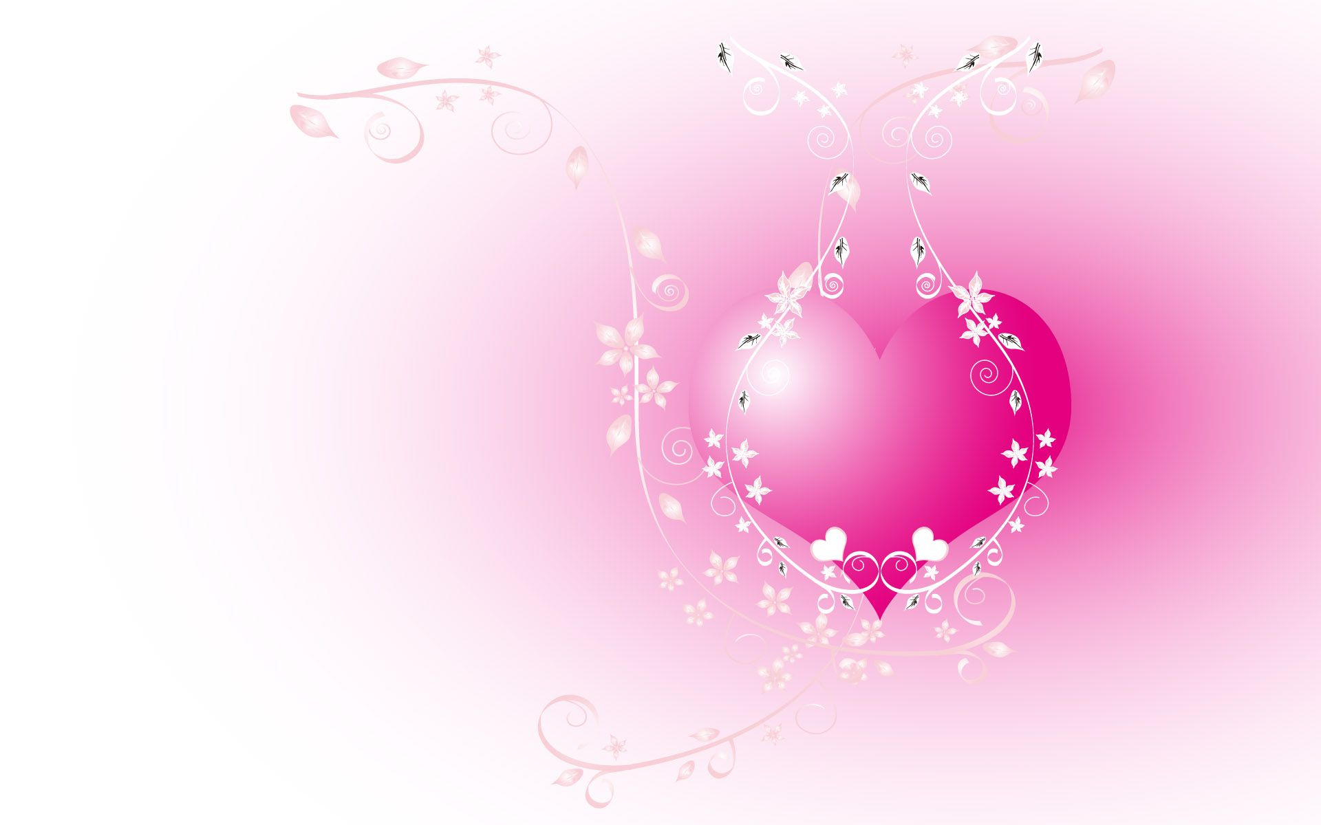 Download Hearts Wallpaper The Pink Heart Image Wallpaper