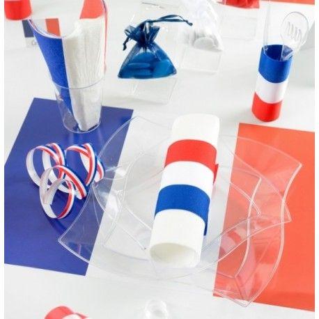 Set de table France drapeau Français les 6