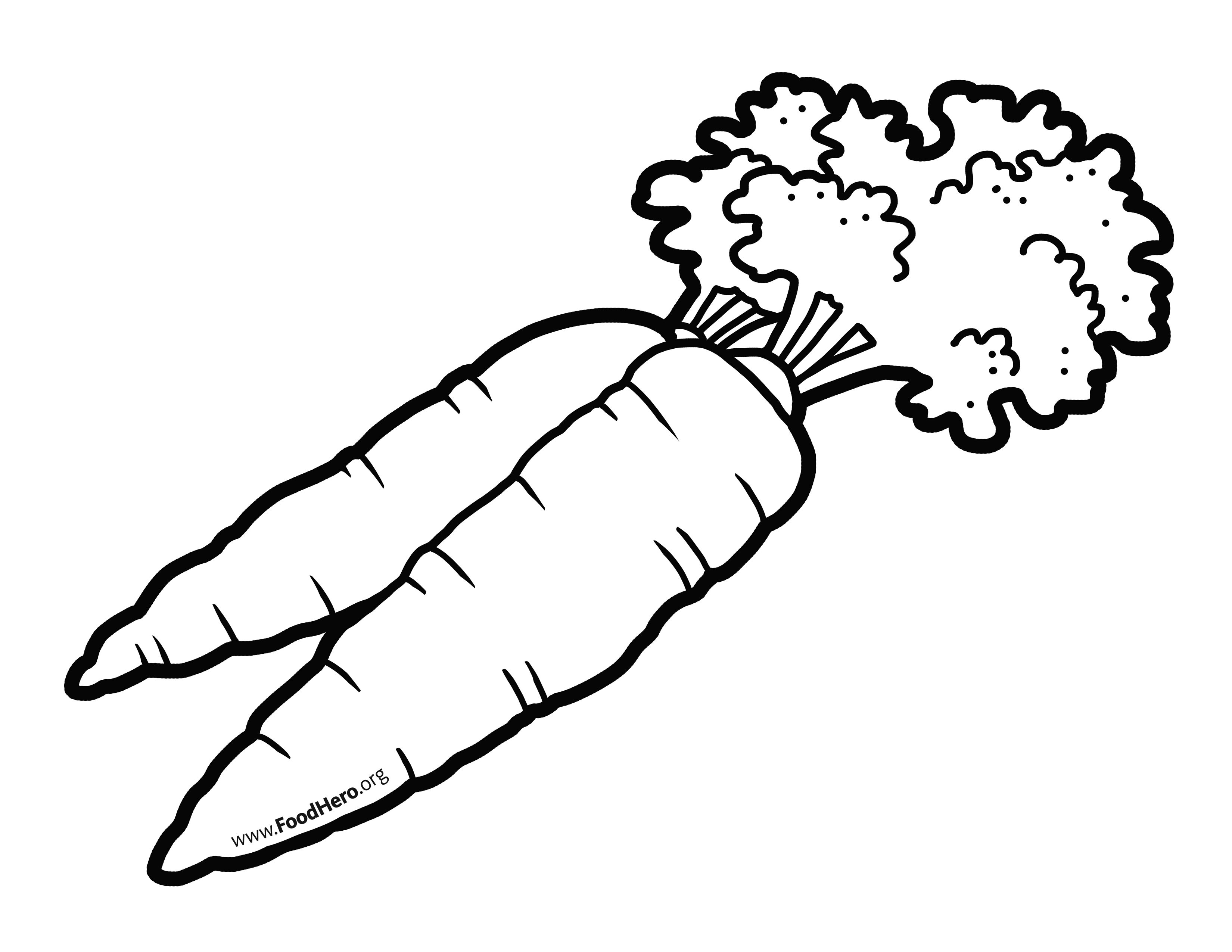 Carrots School Illustration Carrots Foodhero Blackline