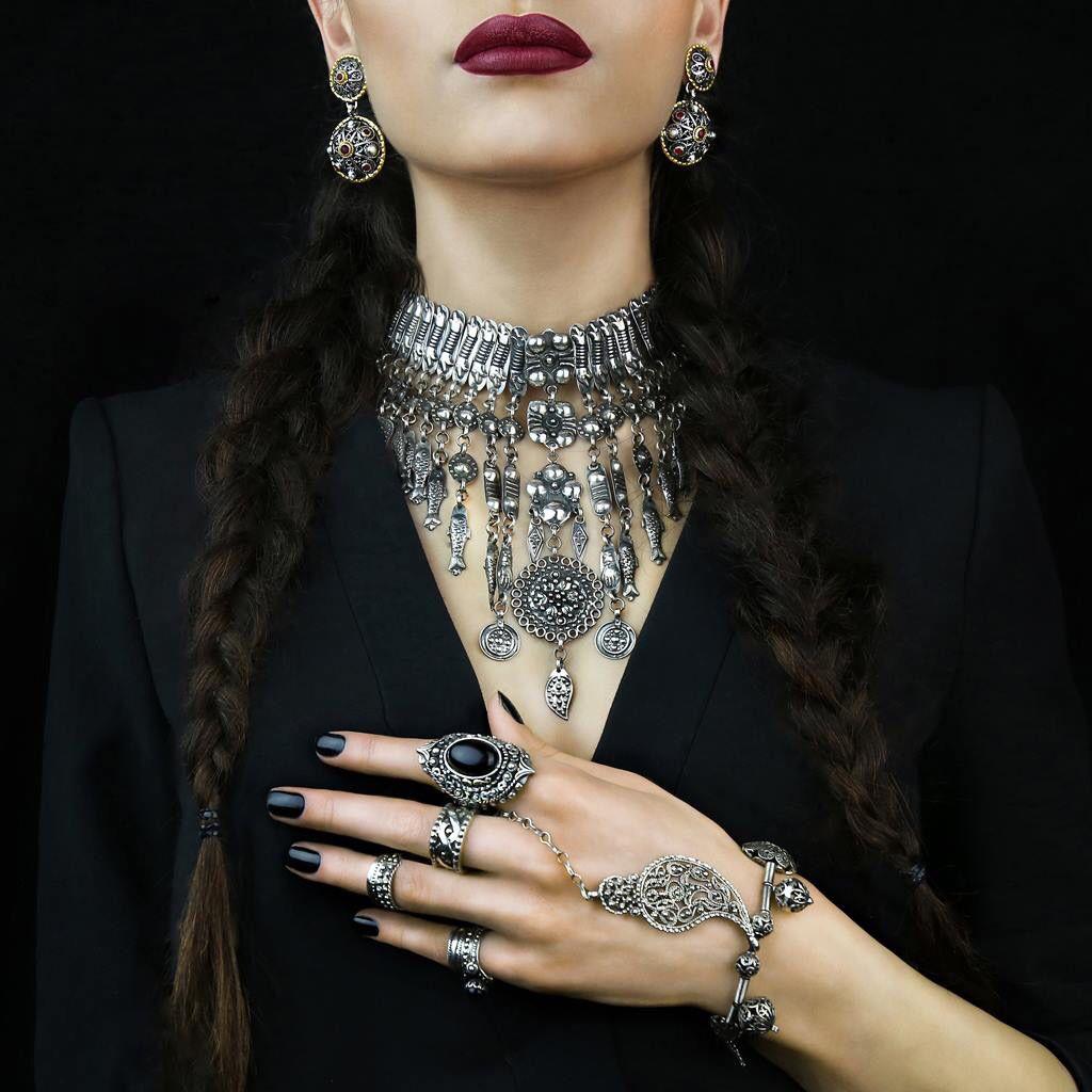 Silver Armenian Jewelry Pregomesh Necklace Ring