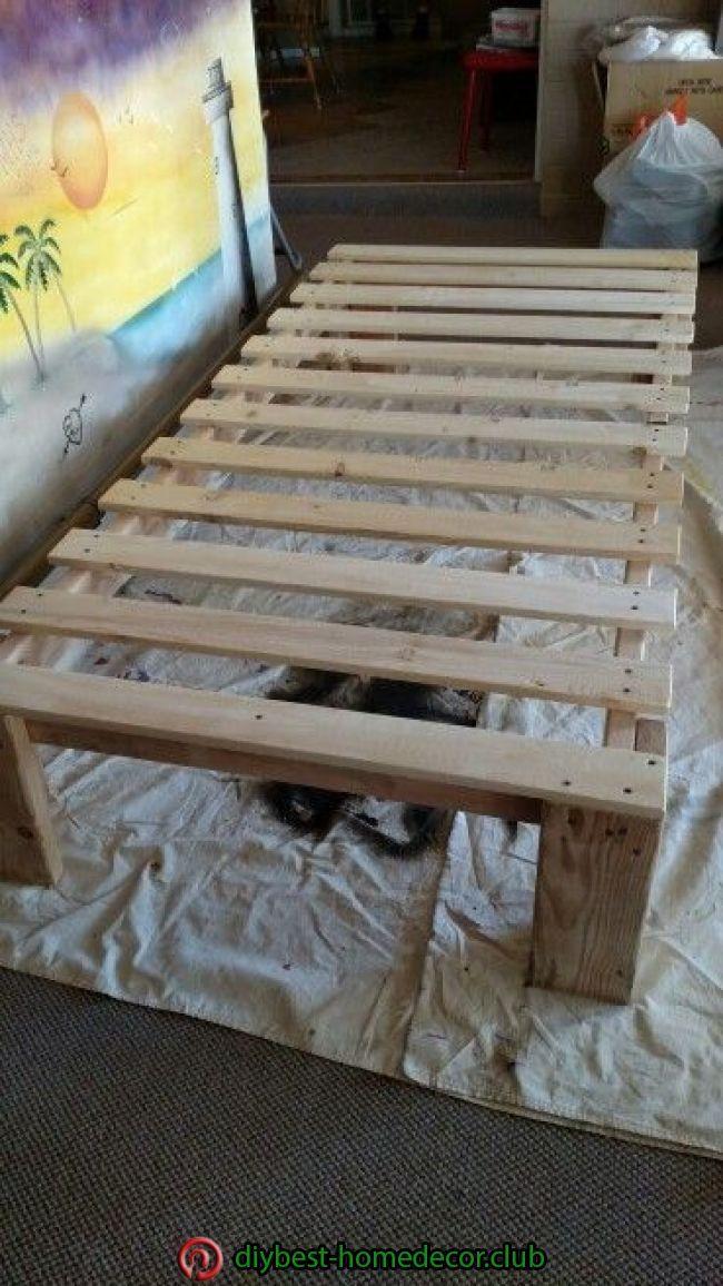 Diy Twin Platform Bed Frame With Images Diy Platform Bed Diy