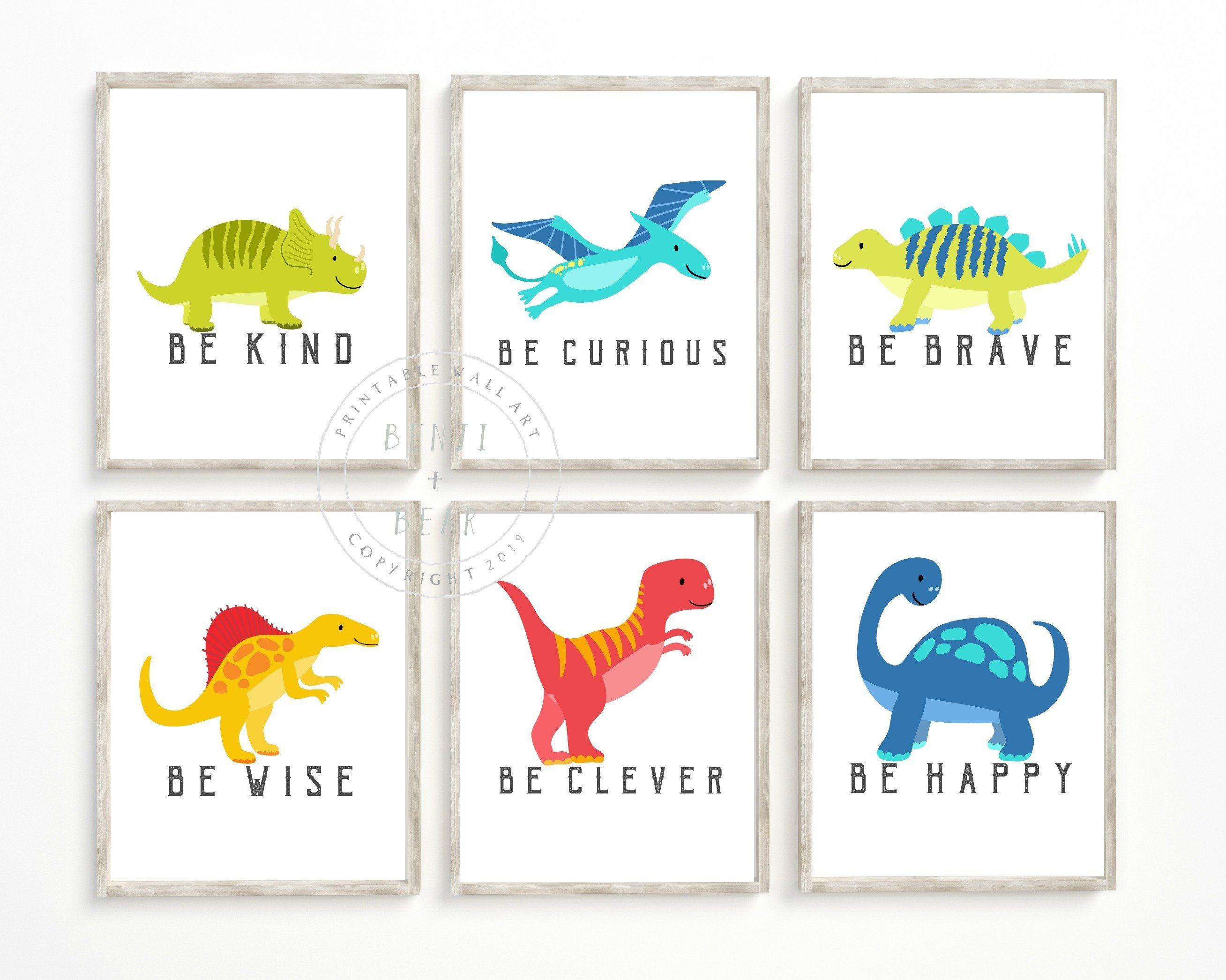 Abstract art for modern nursery dinosaur theme. Dinosaur nursery wall art home decor Orange Dinosaur prints for boys bedroom decor