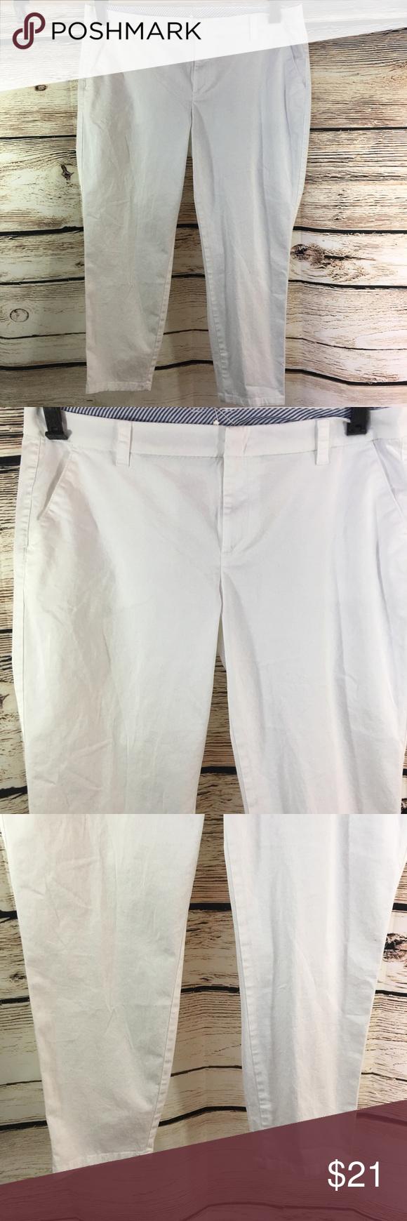 311d30b839c87 NWT JCPenny size 16W white Capri Pants New Capri style pants Cotton spandex jcpenney  Pants Ankle   Cropped