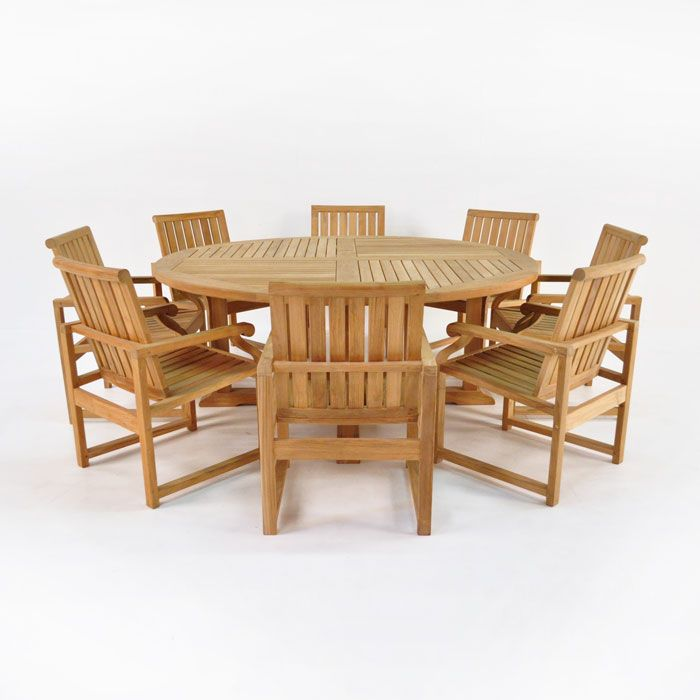 Teak Warehouse Capri Teak Dining Set Teak Dining Table Wood