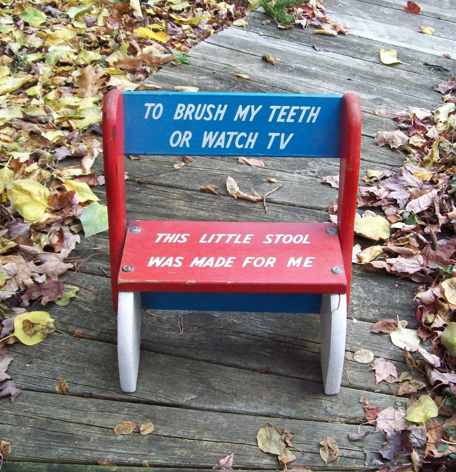 Vintage Childu0027s Step Stool/chair.