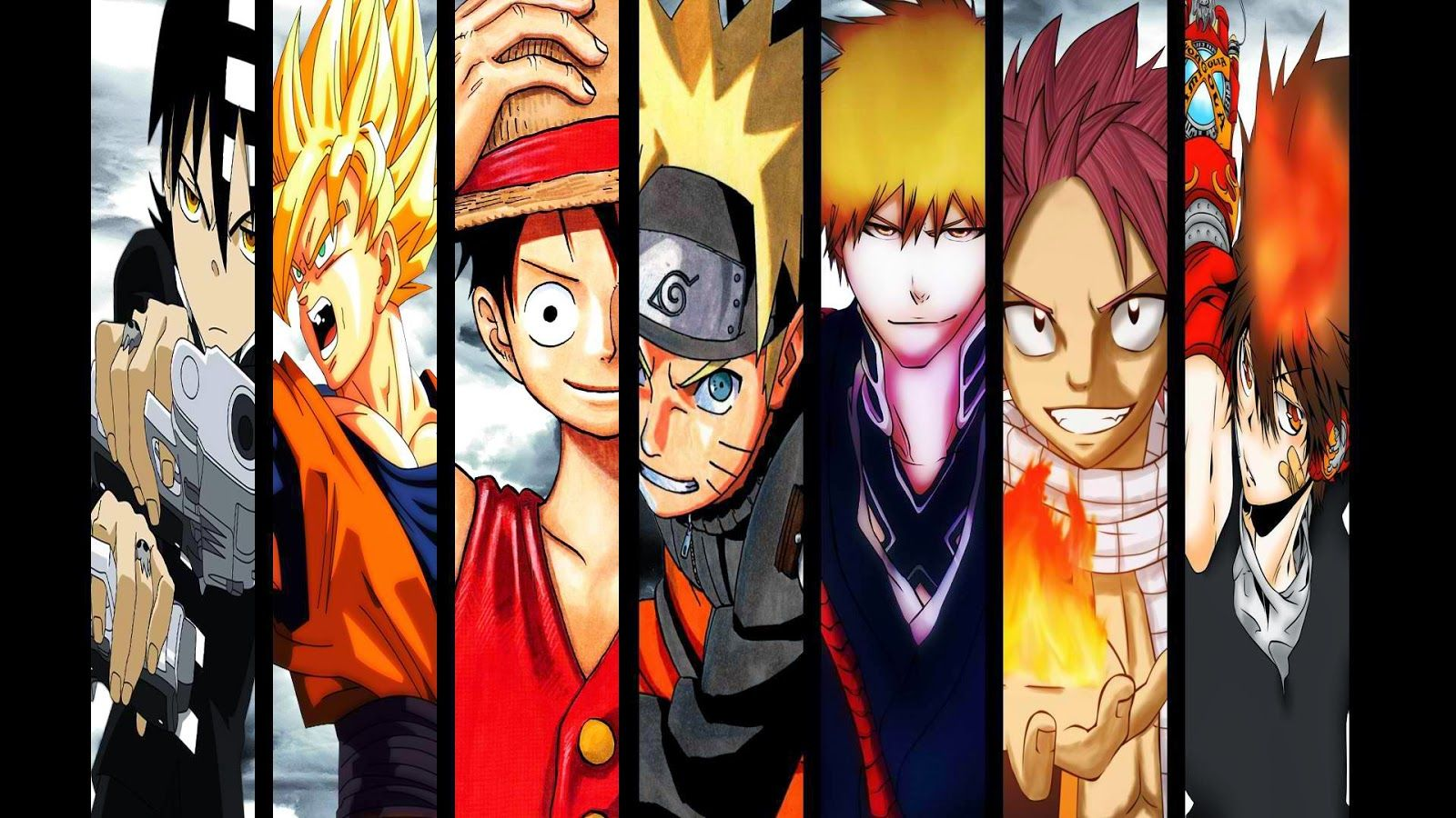 Anime Crossover Soul Eater Dragon Ball Z One Piece Naruto Bleach Fairy Tail Hitman Reborn