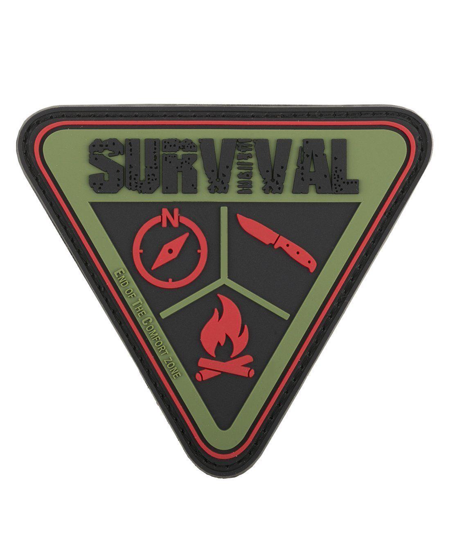 Survival Uberleben 3d Rubber Patch Aufnaher Abzeichen Oliv
