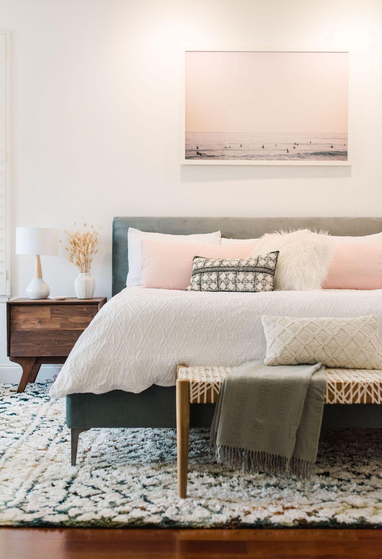 modern boho bedroom design crinkle duvet cover bed bath