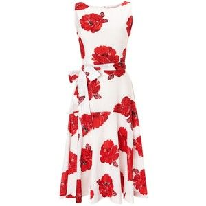 Angesagte Print-Motive - #Imageberatung - www.image50plus.de - Phase Eight Iona Flare Dress, Red / White