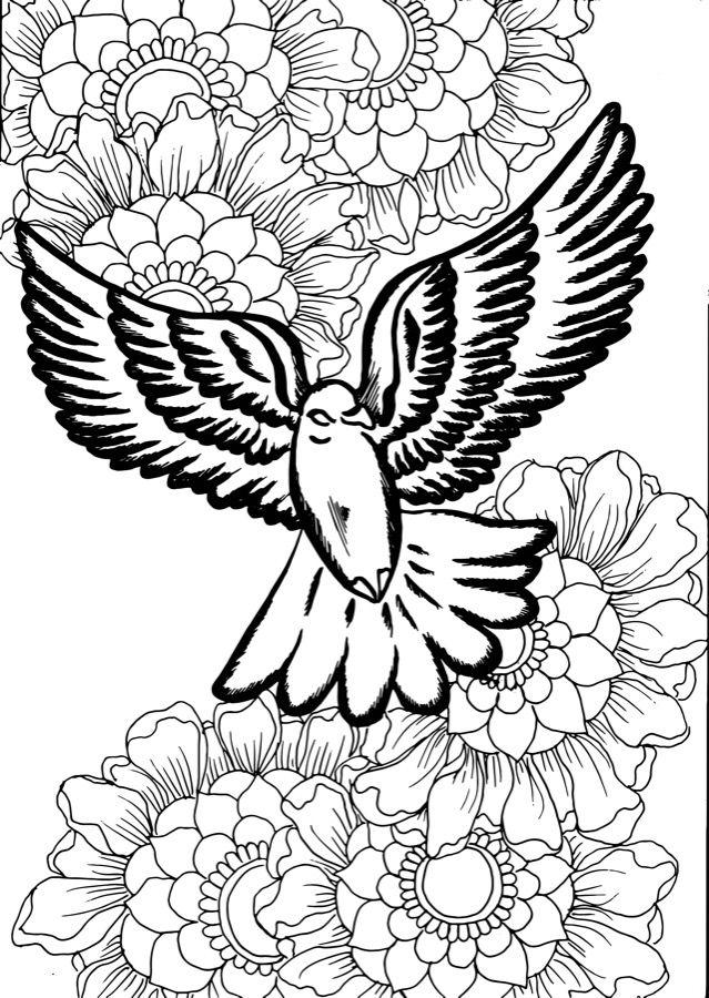Dove Tattoo Design Flower Vectors To Download