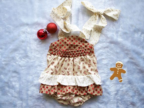 Baby Girls CHRISTMAS OUTFIT Super adorable by VintageBabes1 My
