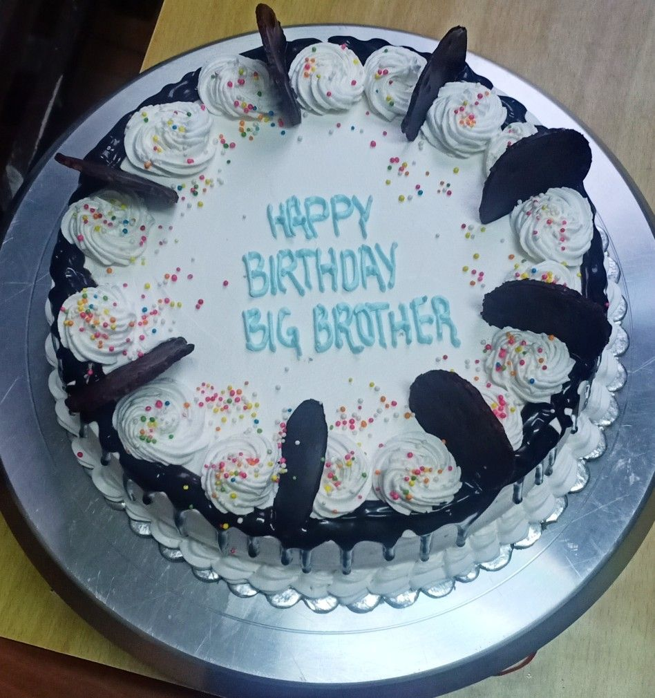 Pin By Sushma Bajracharya On Cakes By Me Cake Happy Birthday Big Brother Desserts