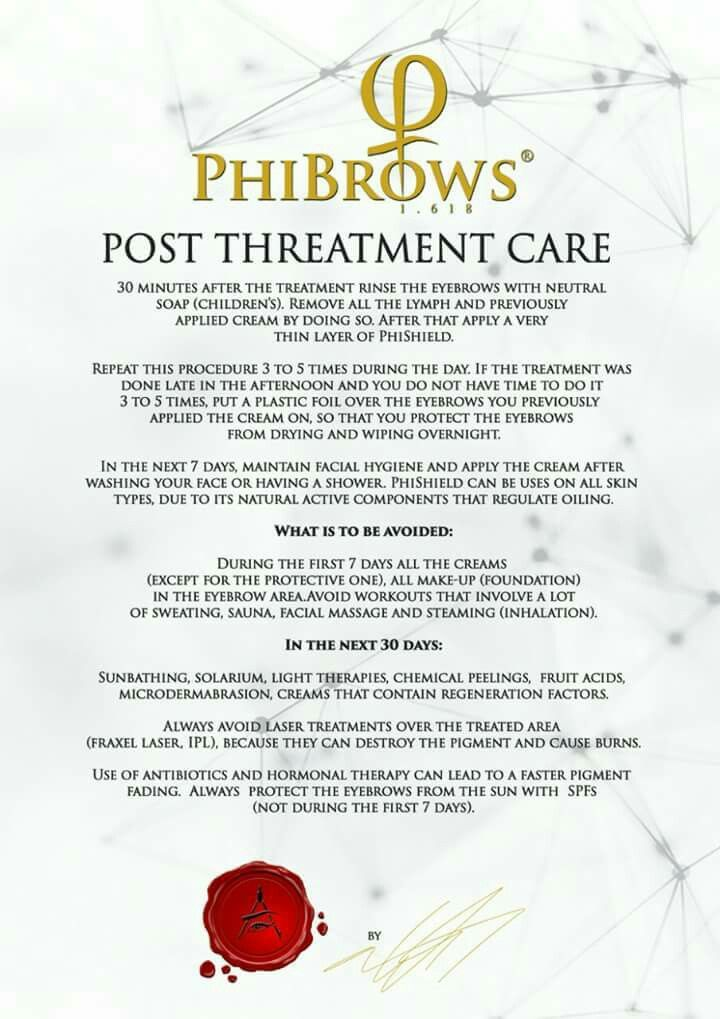 Post Care Eyebrow Tattmicroblading In 2018 Pinterest Brows
