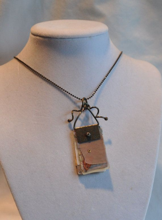 19 Journal  Pendant on Antique Gold Ball Chain by LinsFinalTouch