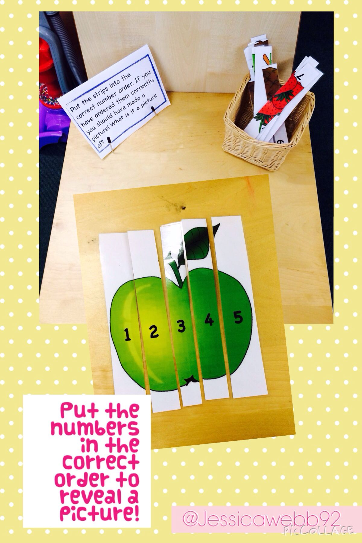 Put The Numbered Pieces Of Card In To Order To Reveal A