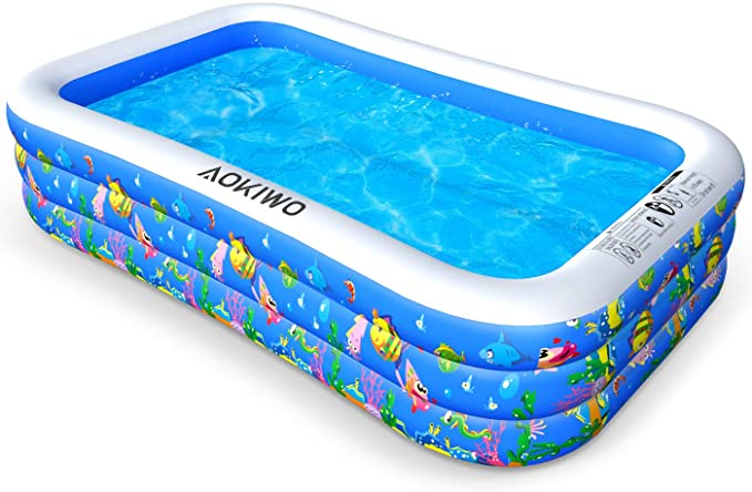 Amazon Com Aokiwo Family Inflatable Swimming Pool 121 X 71 X 21 Full Sized Inflatable Lounge Pool In 2020 Inflatable Lounge Pool Inflatable Swimming Pool Kid Pool