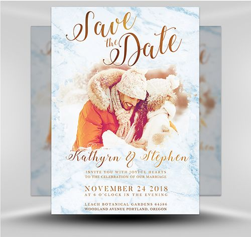 Psd Save The Date Flyer Template 3 Flyer Template Template And Typo