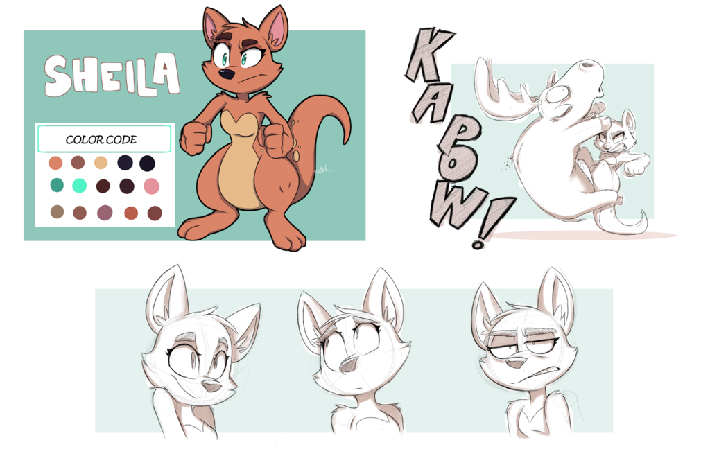 Sheila The Kangaroo By Lostfox18 Character Design Inspiration Character Design Female Character Design
