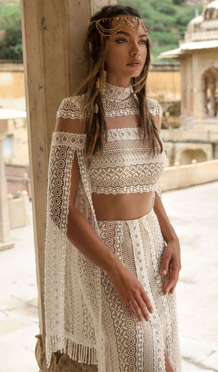 lior charchy India 2018 bridal long sleeves high neck full embellishment bohemian two piece wedding gown : Lior Charchy 2018 Wedding Dresses #weddingdress #wedding #weddingdresses