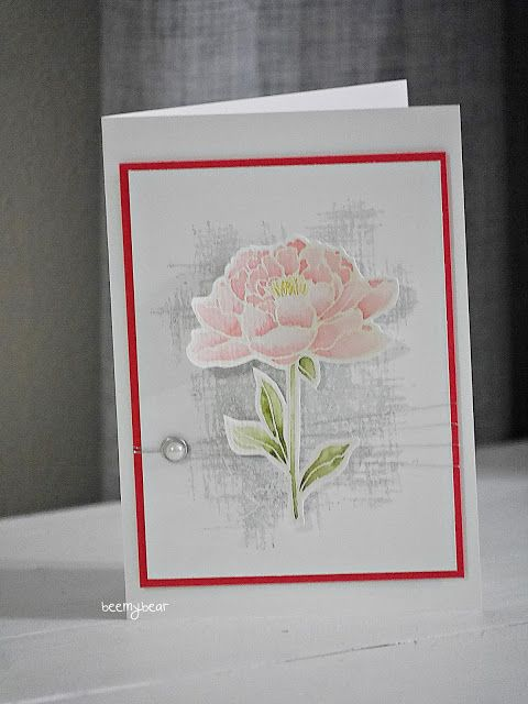 """handmade card from Stampin with Beemybear ... You've Got This .. watercoloring ... emboss/resist ... luv the soft look and quadruple wrap of slender silver threads ... Stampin"""" Up!"""