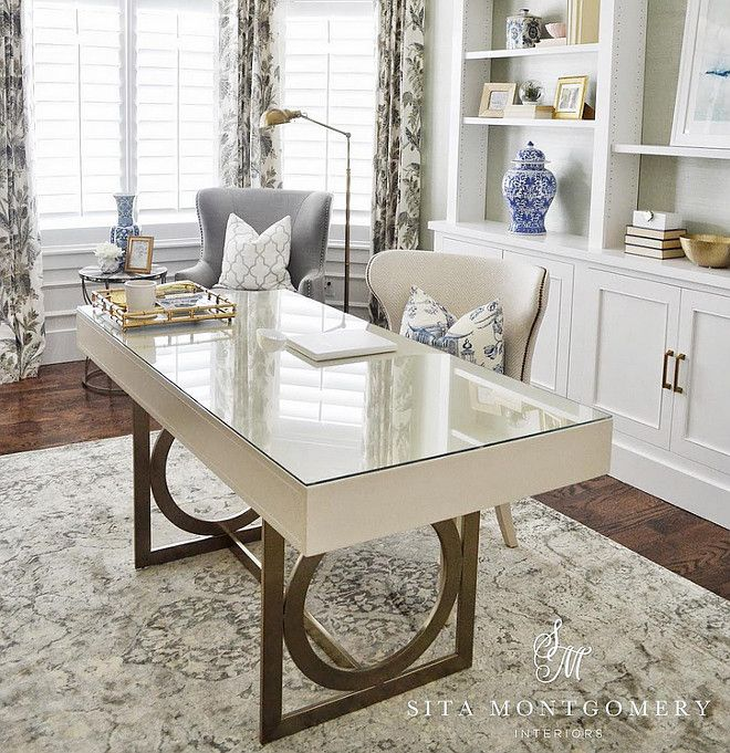 Home Desk Design Ideas: Very Pretty Room. It Feels Like A Larger Room Than It Is