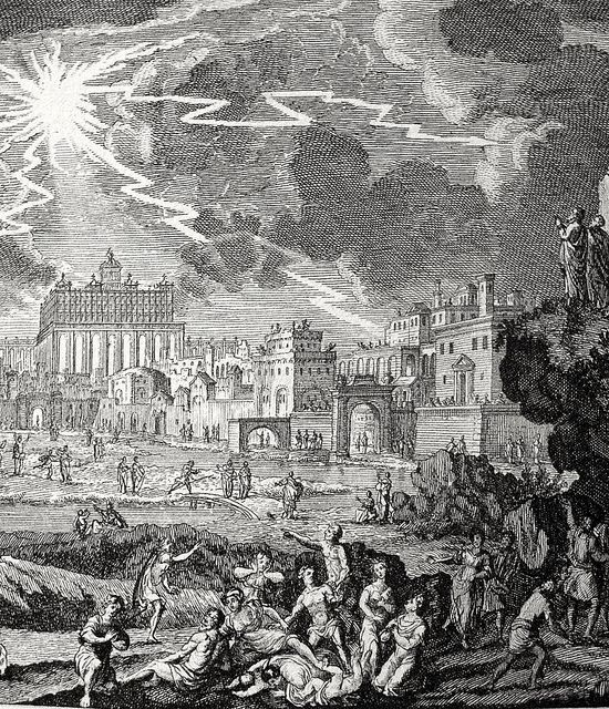 Phillip Medhurst presents Bowyer Bible print 3915 The destruction of Jerusalem foretold Matthew 24 Perelle on Flickr. A print from the Bowyer Bible, a grangerised copy of Macklin's Bible in Bolton Museum and Archives, England.