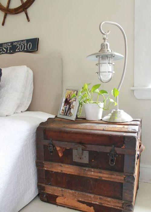 table de chevet malle je fouine tu fouines il fouine nous fouinons bedroom pinterest. Black Bedroom Furniture Sets. Home Design Ideas