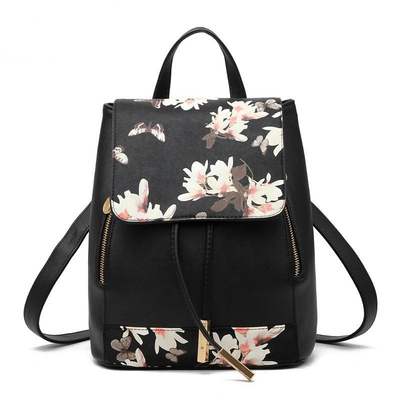 Hanup New Designer Women Backpack For Teens Girls Preppy Style School Bag  PU Leather Backpack Ladies High Quality Black Rucksack d52d50c59eb45