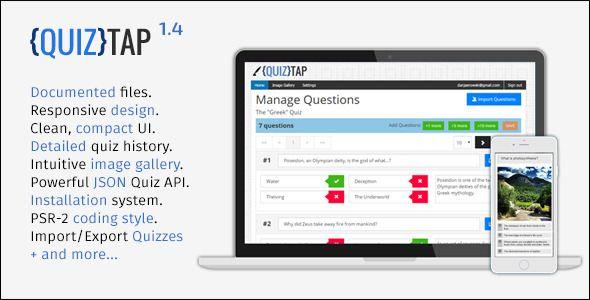 QuizTap premium quiz web app Web Form Templates Designs