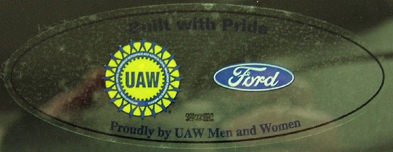 A Transparent Version Of The Generic Uaw Ford Sticker Logo