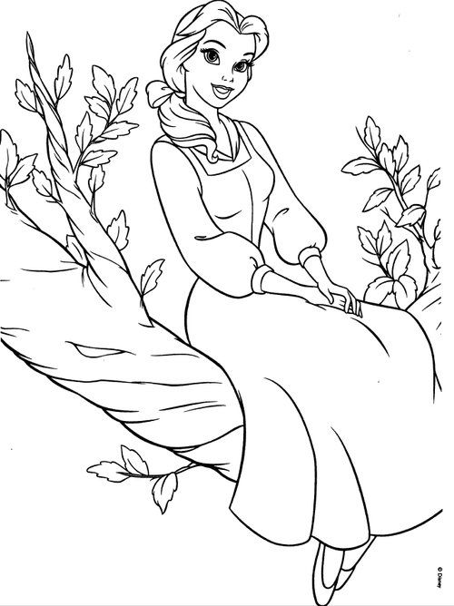 disney princesses belle coloring pages and coloring for kids and graphic sheets - Disney Belle Coloring Pages