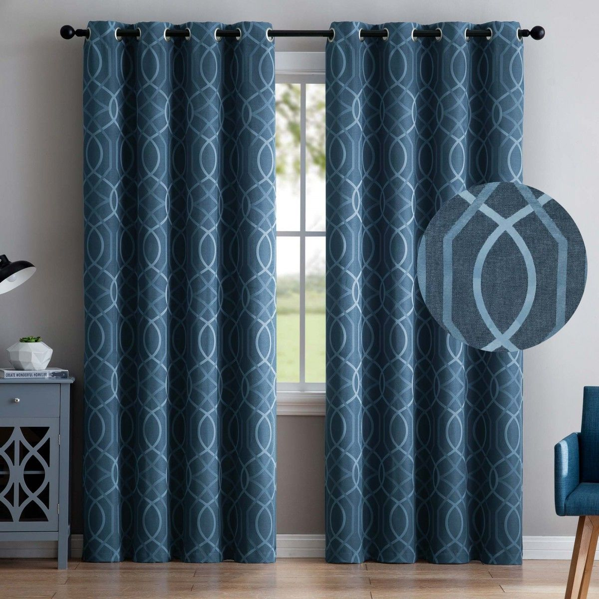 VCNY Aries 2 Blackout Window Curtains 96\