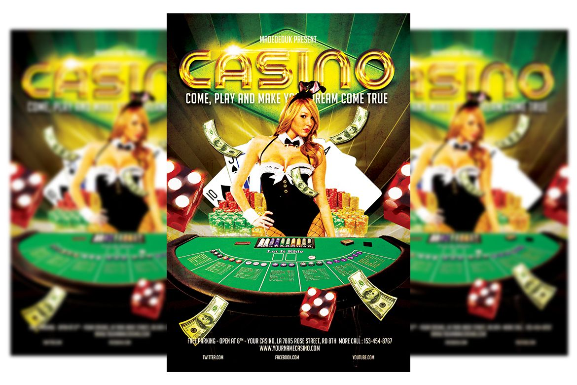 Casino flyer template for you casino psd layered 300 dpi