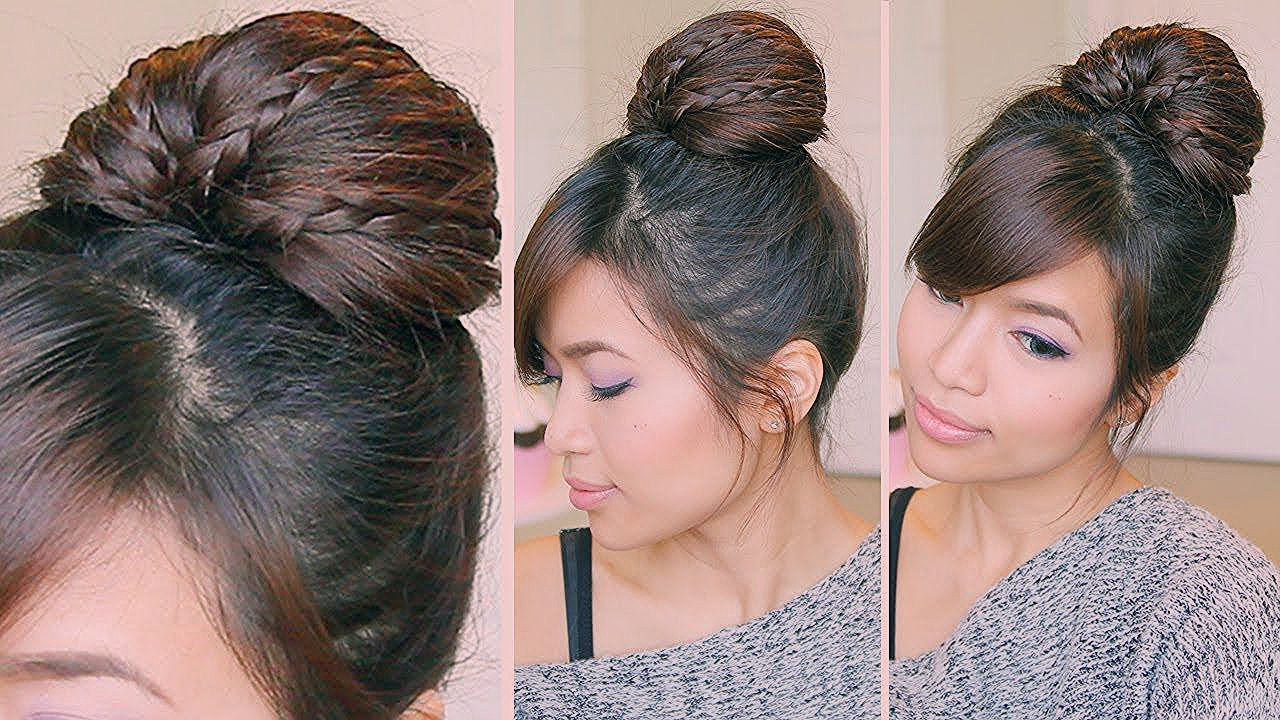 Braided Fan Bun Updo Tutorial Bebexo I Use This All The Time And It Is Awesome Stays In Wonderfully And I Always Get Complim Updo Tutorial Fan Bun Bun Updo