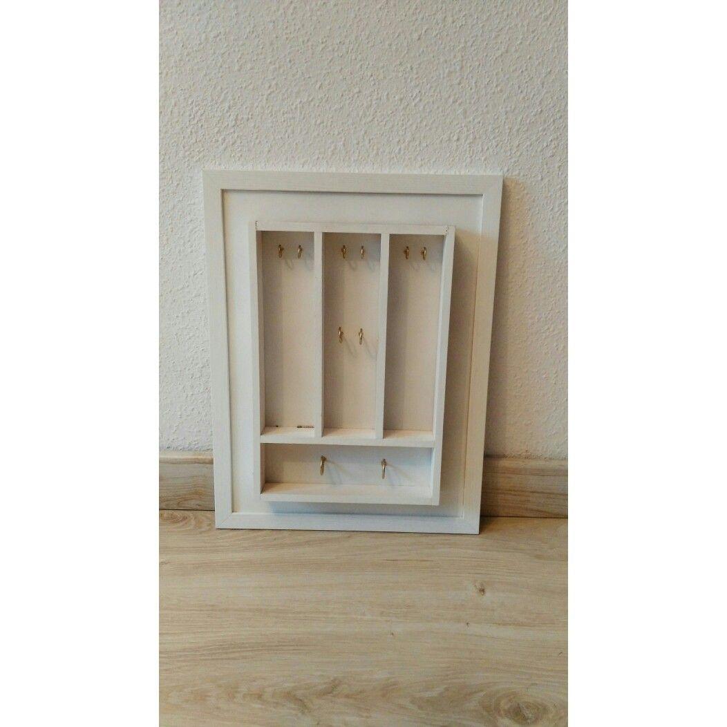 Joyero/ cuadro. DIY Compartimentos con pequeños ganchos(para colgar ...