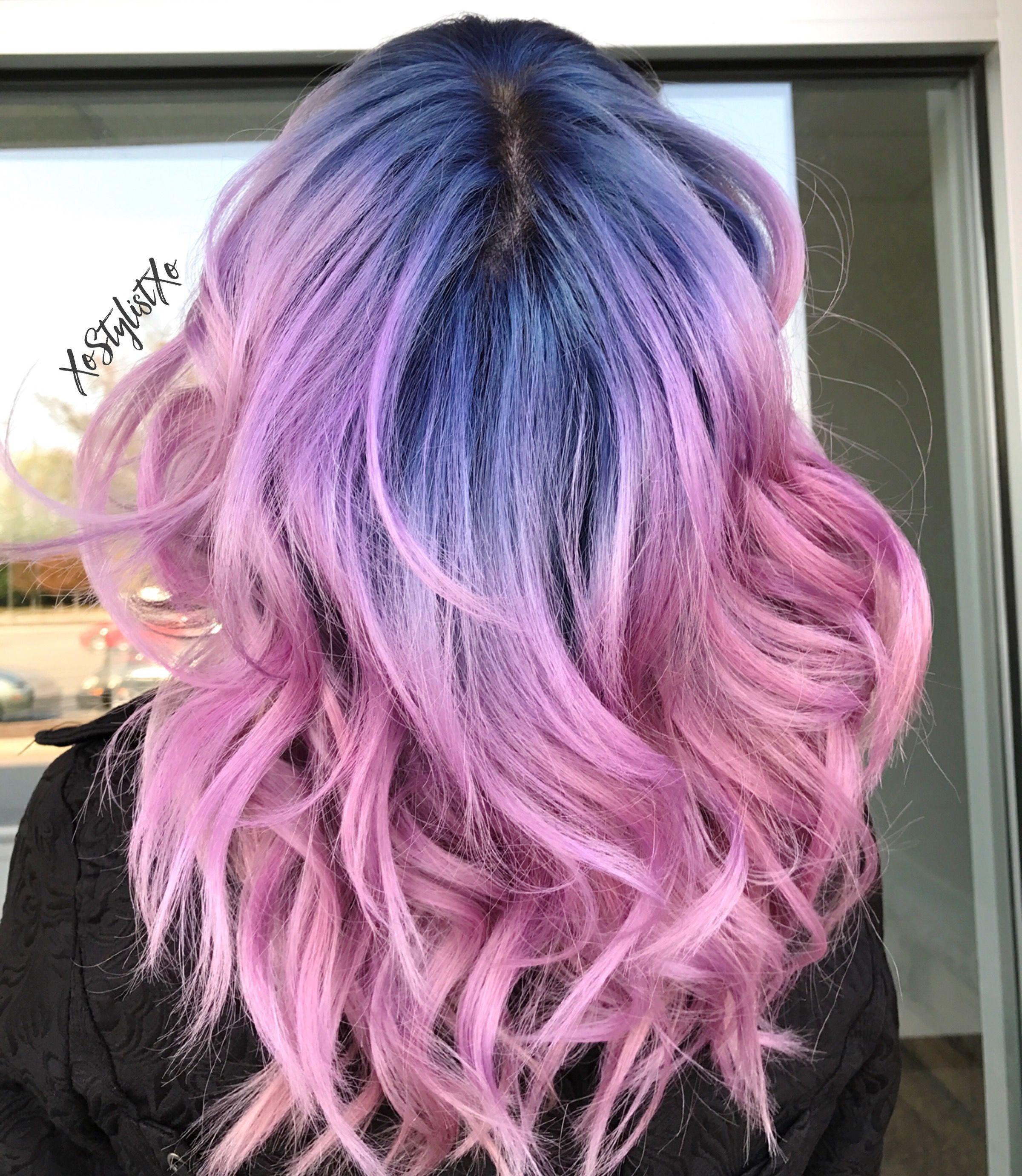 Art color hair - Pulp Riot Smokey Blush By Xostylistxo