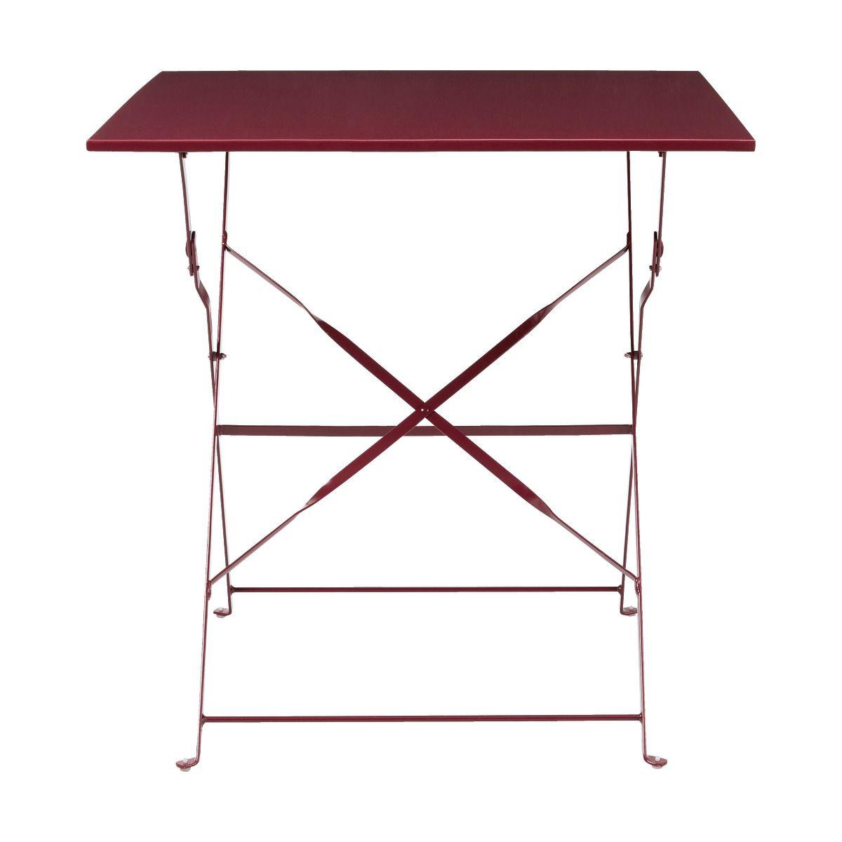 Table De Jardin Pliante Rouge Sumac 2 Places Alinea Table De
