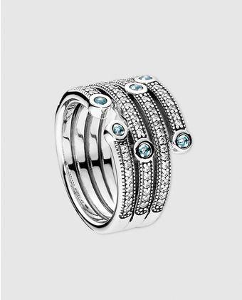 anillo pandora azul