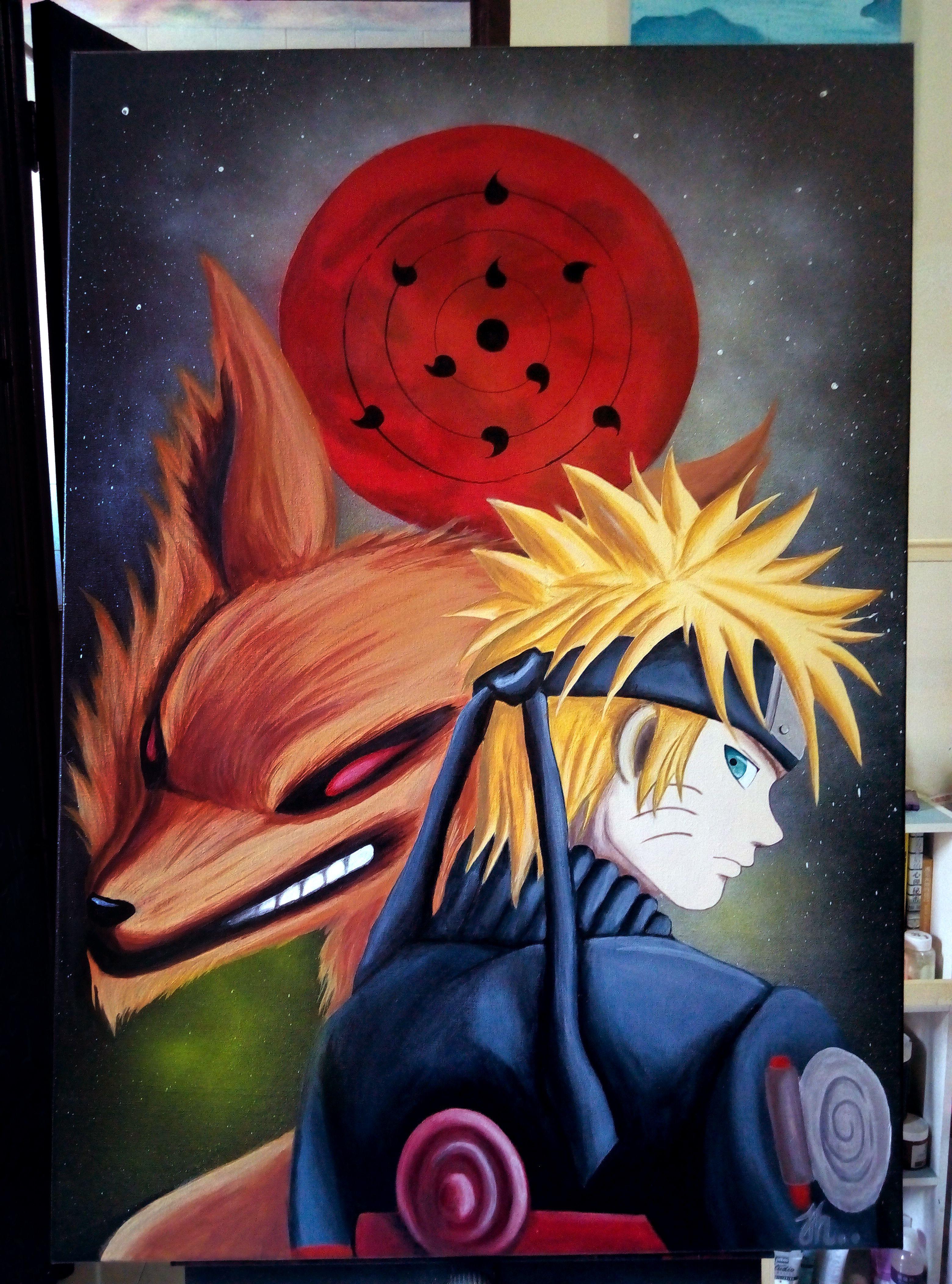 Naruto Acrylic Painting Painting Art Drawings