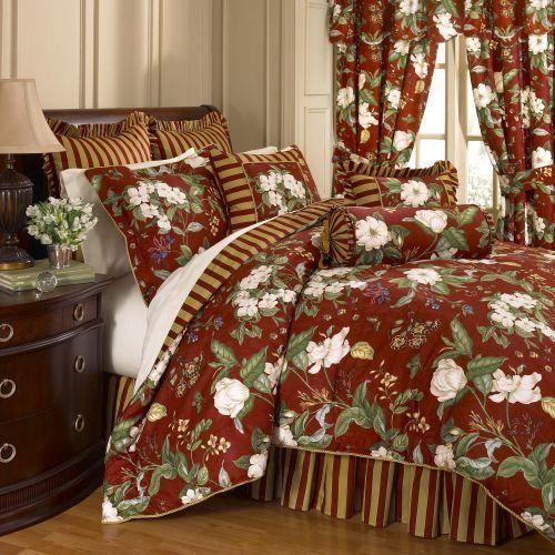 waverly bedding waverly garden images crimson king comforter set - Waverly Bedding