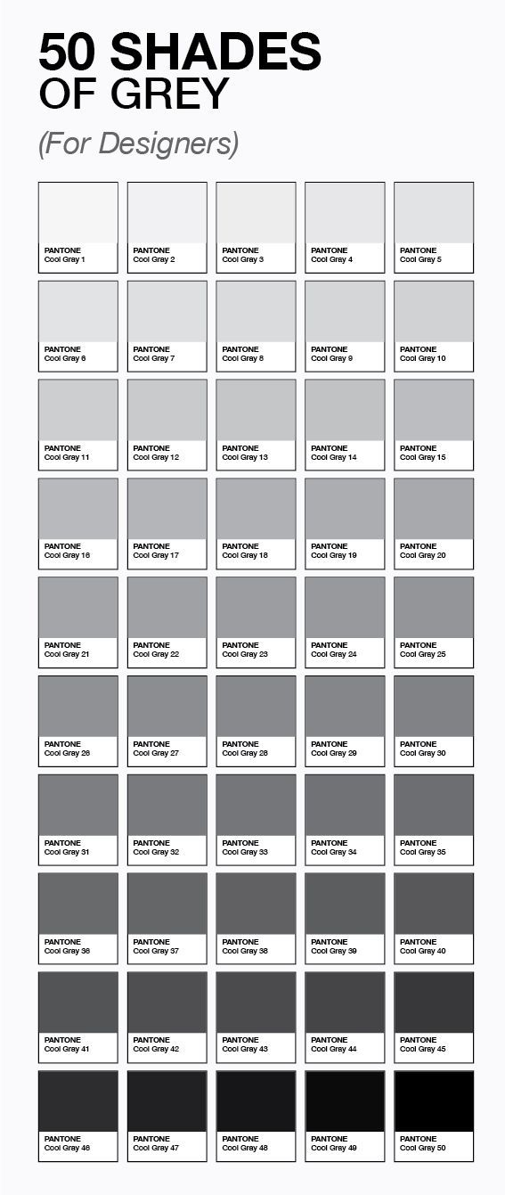 50 Shades Of Gray For Designers