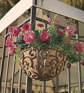 Outdoor Wall Plant Hangers Hanging Flower Basket Flower Pot Holder Outdoor Plant Holder Hanger Hanging Flower Baskets Flower Pot Holder Metal Plant Hangers