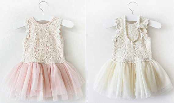 Lace Flower girl dress Tulle Vneck Bridesmaid by Jammyfingers, $69.00