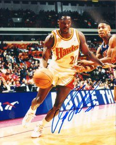 Dominique Wilkins Autographed  Hand Signed Atlanta Hawks 8x10 Photo  College and NBA Hall of Fame Inductee ** Click image for more details.
