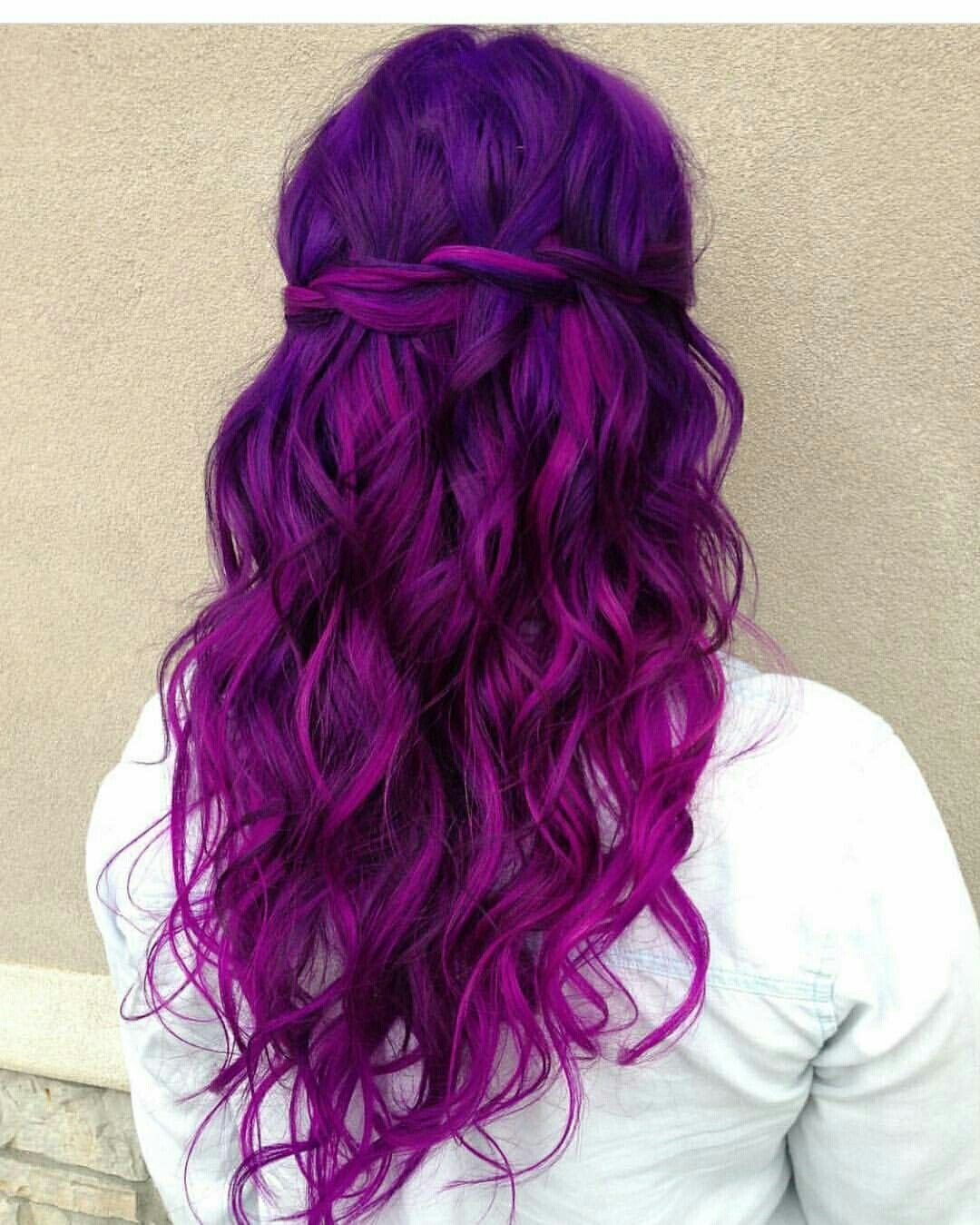 Lovely Purple Magenta Hair Purple Ombre Hair Ombre Hair Color