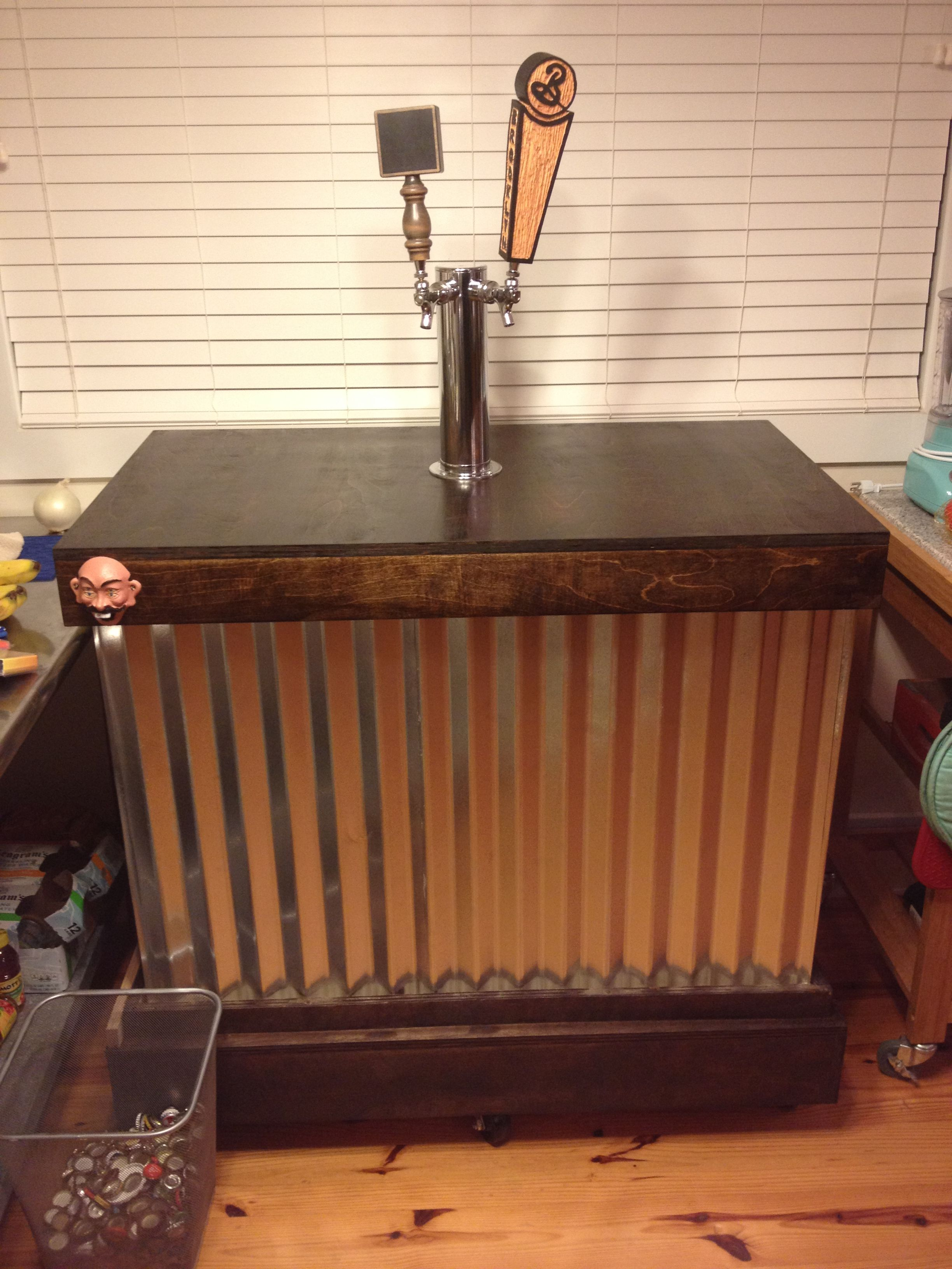 DIY Kegerator Bar