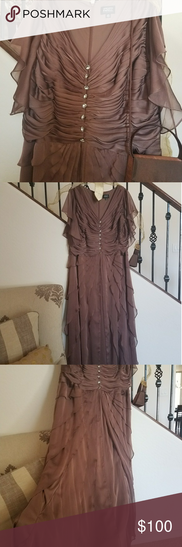 da6708a5352 Selling this Mother of the Bride Gown on Poshmark! My username is   amaperfect 50.  shopmycloset  poshmark  fashion  shopping  style  forsale   Adrianna ...