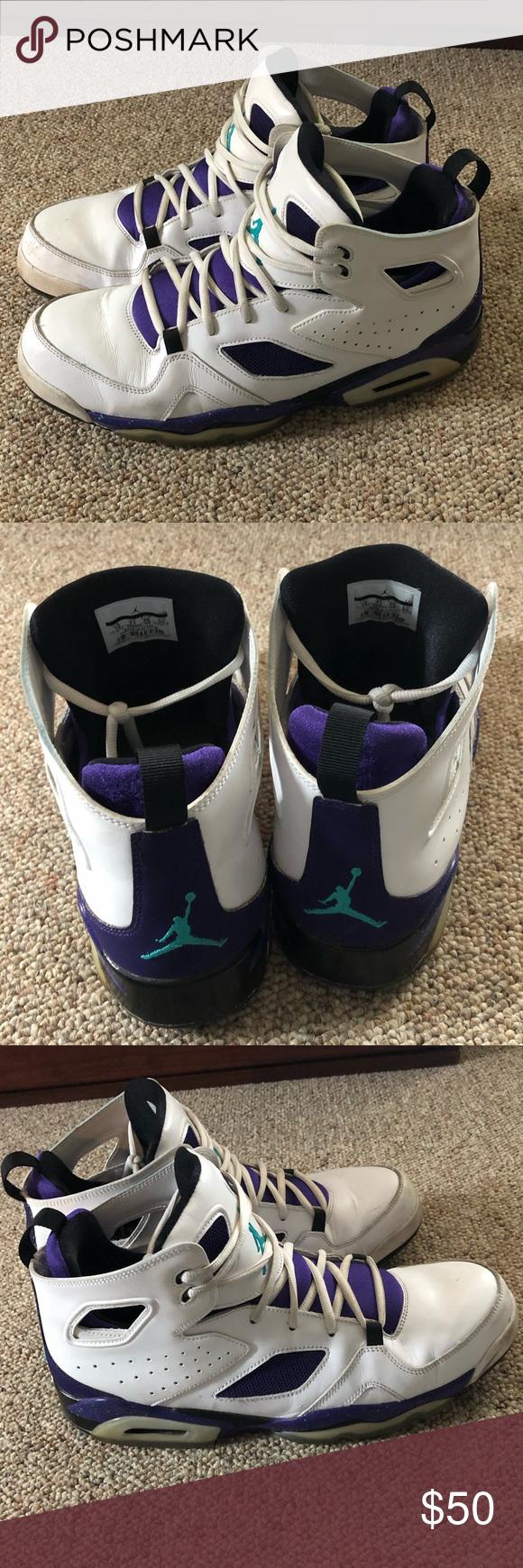 58d78d0a0d1c Jordan Flight Club  91 Grape Emerald shoe Really cool colorway of grape and  emerald on
