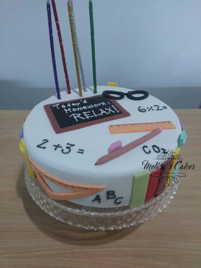 Torta para maestras seorita biologa Bibliotecaria secretaria